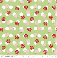 Riley Blake Fabric - Sew Cherry 2 - Lori Holt - Green #C5801
