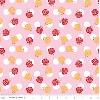 Riley Blake Fabric - Sew Cherry 2 - Lori Holt - Pink #C5801