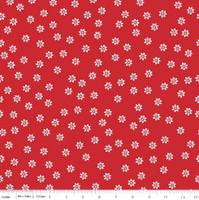 Riley Blake Fabric - Sew Cherry 2 - Lori Holt - Red #C5803