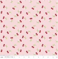 Riley Blake Fabric - Sew Cherry 2 - Lori Holt - Pink #C5804