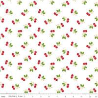 Riley Blake Fabric - Sew Cherry 2 - Lori Holt - White #C5804