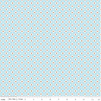 Riley Blake Fabric - Sew Cherry 2 - Lori Holt - Aqua #C5806