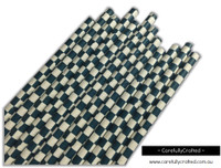 25 Paper Straws - Navy Checkerboard - #PS47