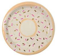 Meri Meri - Foiled Doughnut Plate - Set of 8