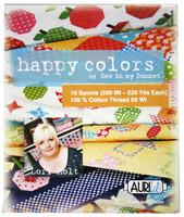 Happy Colors Small Aurifil Thread Box Lori Holt