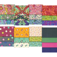 "Free Spirit Fabric Precuts - 5""x5"" Charm Pack - Slow and Steady by Tula Pink"