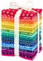 Robert Kaufman Fabric Precuts - Fat Quarter Bundle  - Blueberry Park Karen Lewis Collection - Bright Spectrum