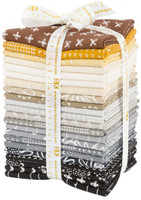 Robert Kaufman Fabric Precuts - Fat Quarter Bundle  - Blueberry Park Karen Lewis Collection - Neutral