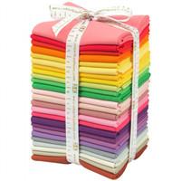 Robert Kaufman Fabric Precuts - Fat Quarter Bundle  - Kona Solids Designer Palette