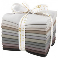Robert Kaufman Fabric Precuts - Fat Quarter Bundle - Kona Cotton Grey