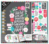 Create 365 - Me and My Big Ideas - The Happy Planner™ 12 Month Box Kit - Flower Pop - BIG