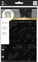 Create 365 - Me and My Big Ideas - The Happy Planner™ Snap-In Cover - Black / Gold Dot - MINI