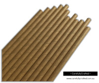 25 Paper Straws - Kraft - #PS65