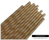 25 Paper Straws - Kraft Stripe - #PS66