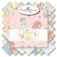 Riley Blake Fabric - Bunnies and Cream - Lauren Nash Collection - Fat Quarter Bundle