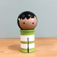 Binding Babies™ Mini Green White Stripe - Doohikey Designs