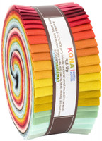Robert Kaufman Fabric Precuts - Jelly Roll - Pond Kona Coordinates by Elizabeth Hartman