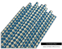 25 Paper Straws - Blue Diamonds - #PS72