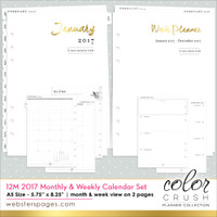 Color Crush - Websters Pages - 2017 A5 Planner 12-Month Calendar