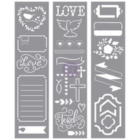 My Prima Planner - Embellishments - Love Faith Scrap - Stencils