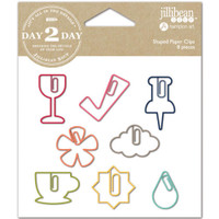 Day 2 Day Planner Shaped Clips - Set of 8