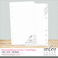 Color Crush A5 Planner Lined Paper Inserts - Websters Pages - Follow Your Dreams