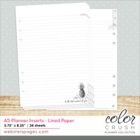 Color Crush A5 Planner Lined Paper Inserts - Websters Pages
