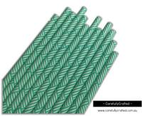 25 Paper Straws - Aqua Bamboo - #PS77