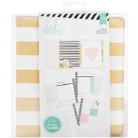 Heidi Swapp Large Memory Planner - Gold Foil Stripes