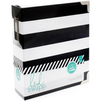 Heidi Swapp Memory Planner Binder - Black and White Stripe