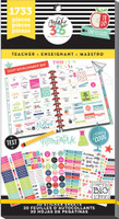 Create 365 - Me and My Big Ideas - The Happy Planner™ Value Pack Stickers - Teacher - BIG