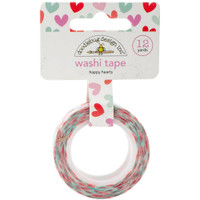 Doodlebug Washi Tape 15mm X 12yd - Sweet Things Happy Hearts