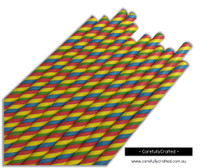 25 Paper Straws - Rainbow Stripe - #PS83