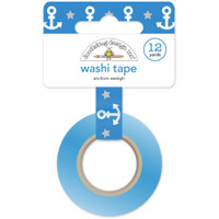 Doodlebug Washi Tape 15mm X 12yd - Anchors Aweigh