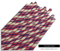 25 Paper Straws - Pink and Purple Waves - #PS86