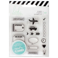 Heidi Swapp - Memory Planner 2017 Clear Stamps Icons