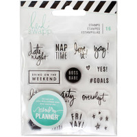 Heidi Swapp - Memory Planner 2017 Clear Stamps Weekend