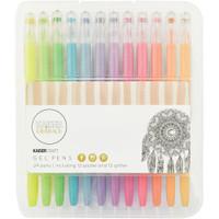 KaiserCraft Gel Pens -  Set of 24 -  Pastel and Glitter
