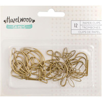 American Crafts - Hazelwood Shaped Paper Clips - 12 Pack