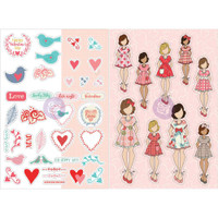 Prima Marketing - Julie Nutting Planner Monthly Stickers - 2 Pack - February