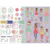 Prima Marketing - Julie Nutting Planner Monthly Stickers - 2 Pack - June
