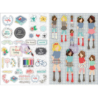 Prima Marketing - Julie Nutting Planner Monthly Stickers - 2 Pack - September