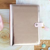 "Color Crush A5 Faux Leather Planner Kit 7.5 ""x 10"" - Platinum Rose"