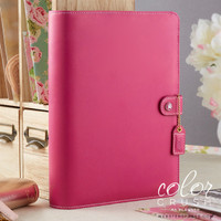 "Color Crush A5 Faux Leather Planner Kit 7.5 ""x 10"" - Fuchsia"
