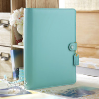 "Color Crush A5 Faux Leather Planner Kit 7.5 ""x 10"" - Light Teal"