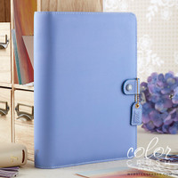"Color Crush A5 Faux Leather Planner Kit 7.5 ""x 10"" - Periwinkle"