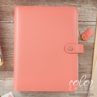Color Crush A5 Faux Leather Planner - Pretty Pink - Binder Only