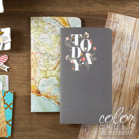 Color Crush - Travellers Notebook - Notepad Set V - World Map and Today