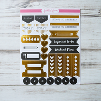 Freckled Fawn - Gold Foil Planer Stickers