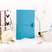 Freckled Fawn - Sleek Traveler's Notebook - Rich Teal